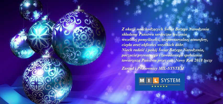 Życzymy Wszystkim Wesołych i Spokojnych Świąt oraz Szczęśliwego Nowego Roku 2018!